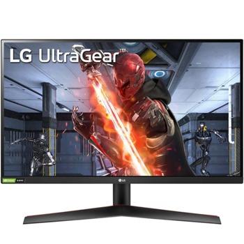 """Монитор LG UltraGear 27GN600-B с подарък разклонител Allocacoc Power Cube WiFi 9610, 27"""" (68.58 cm) IPS панел, 144Hz, HDR, FHD, 1ms, 350cd/m2, DisplayPort, HDMI image"""