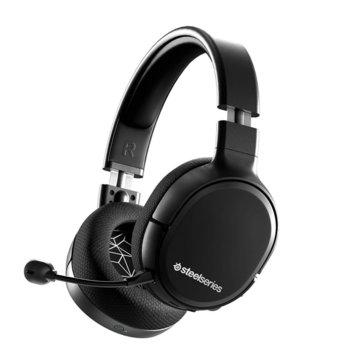 Слушалка SteelSeries Arctis 1 Wireless, микрофон, безжични/жични, гейминг, 3.5 mm jack, USB Type-C, черни image