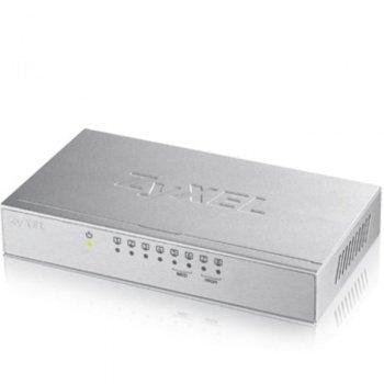 Суич ZyXEL GS-108B v3, 1000Mbps, 8 порта, 8x RJ-45 10/100/1000 Mbps  image
