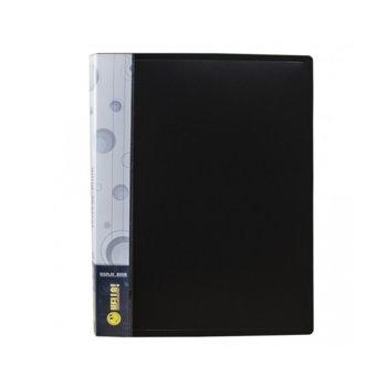 Папка Economix 20 джоба, черна, A4 image