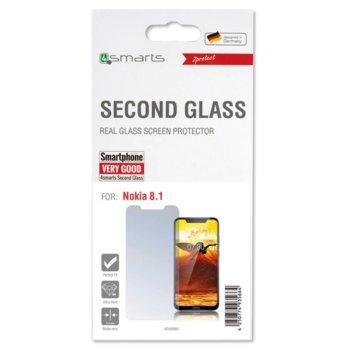 Протектор от закалено стъкло /Tempered Glass/, 4Smarts 4S492662, за Nokia 8.1 image