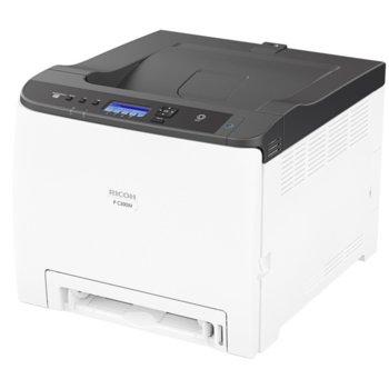 Лазерен принтер Ricoh P C300W RICOH-LJ-PC300W, цветен, 2400 x 1200 dpi, 25 стр/мин, Wi-Fi LAN1000, USB 2.0, А4 image