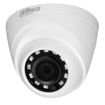 HDCVI камера Dahua HAC-HDW1400R-0280B, куполна, 4 Mpix(2560x1440@30fps), 2.8mm обектив, IR осветеност (до 20м) image