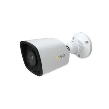 """IP камера Q-See QTN8015C, насочена """"bullet"""" камера, 2MP (1920x1080@30fps), H.265/H.264/M-JPEG, IR осветленост (до 20м), външна IP66, PoE image"""