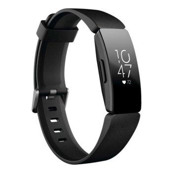 Смарт гривна Fitbit Inspire HR, акселерометър, oптичен пулсомер, до 5 дни време на работа, Bluetooth 4.0, черна image