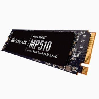 Памет SSD 240GB Corsair MP510 CSSD-F240GBMP510, M.2 PCI-e NVMe, M.2 2280, скорост на четене 3100MB/s, скорост на запис 1050MB/s image