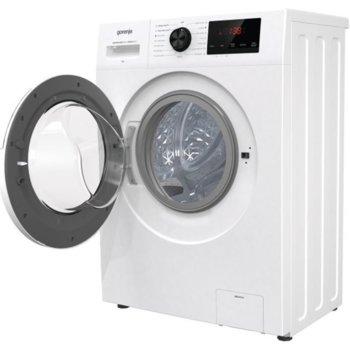 Перална машина Gorenje WHP72ES, клас A, 7 кг. капацитет, 1200 оборота, 15 програми, свободностояща, 59.5 cm, SteamTech третиране с пара, TotalWeight разпознаване на теглото на прането, бяла image