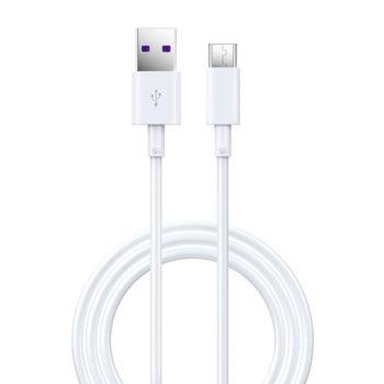 Кабел Devia Shark Supercharge, от USB Type А(м) към USB Type C(м), 1.5m, бял image