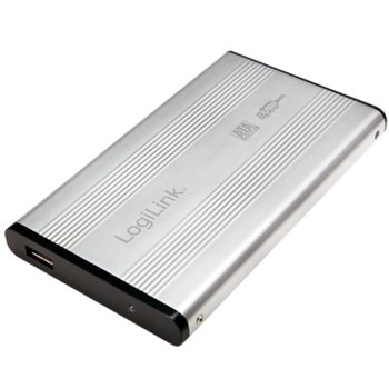 """Кутия 2.5"""" (6.35 cm) LogiLink UA0041A за 2.5"""" (6.35 cm) HDD, SATA, USB, алуминиева image"""