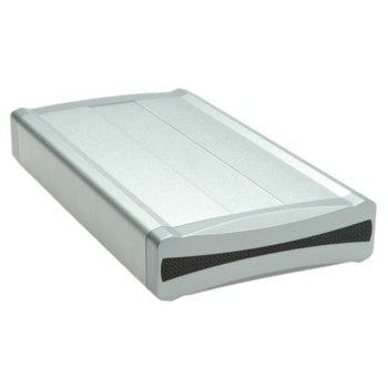 """Кутия 3.5"""" (8.89 cm) Roline 16.99.4288, за 3.5"""" (8.89 cm) HDD, USB Type A, ключ за включване и изключване, сребриста image"""