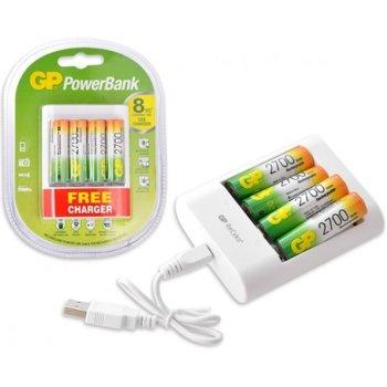 Зарядно у-во GP GP 411 270 AA 2UE4, за батерии AA/AAA image