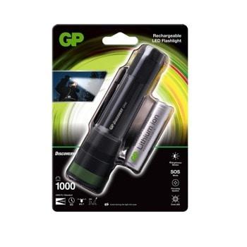 Фенер акумулаторен GP CR42, на батерий, 1000 lm, водоустойчив, черен image