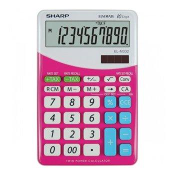 Калкулатор SHARP EL-M332, 10 разряден дисплей, розов image