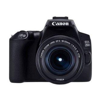 "Фотоапарат Canon EOS 250D в комплект с 2x обектива (Canon EF-S 18-55mm f/3.5-5.6 IS и EF 50mm f/1.8 STM), 24.2 Mpix, 3,0"" (7.62 cm) сензорен TFT дисплей, Bluetooth, Wi-Fi, SD/SDHC/SDXC слот, USB, HDMI mini image"