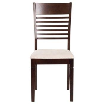 Трапезен стол PAOLA, какао/слонова кост image
