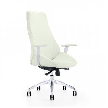 Директорски стол Elma, еко кожа, 130 кг. максимално тегло, Multi - механизъм, бежов image