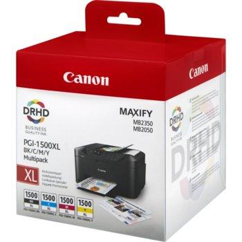 Canon Ink PGI-1500XL BK/C/M/Y Pack+ Calculator product