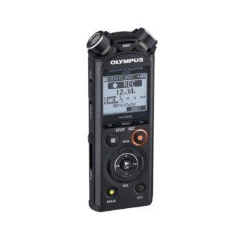 Диктофон Olympus LS-P4 Linear PCM Recorder Video Kit, 8GB, microSD, Bluetooth, черен image