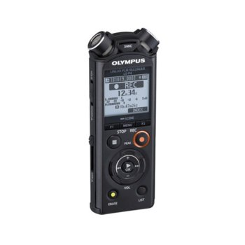 Диктофон Olympus LS-P4 Linear PCM Recorder Video Kit, 8GB, microSD, Bluetooth, черен image
