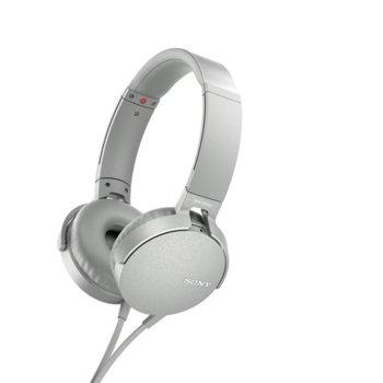 Слушалки Sony MDR-550AP, микрофон, бели image