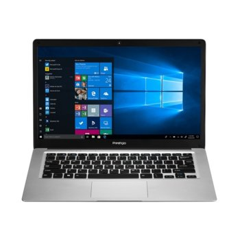 "Лаптоп Prestigio SmartBook 141 C3 (PSB141C03BGH_MG)(сив), четириядрен Cherry Trail Intel Atom x5-Z8350 1.44/1.92 GHz, 14"" (35.56cm) HD TN Anti-Glare LED Backlit Display, (mHDMI), 2GB, 64GB eMMC, 1x USB 3.0, Windows 10 Home image"