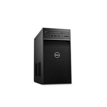 Настолен компютър Dell Precision 3630 (#DELL02376), четириядрен Coffee Lake Intel Xeon E-2124 3.3/4.3 GHz, Radeon Pro WX 2100 2GB, 8GB DDR4, 1TB HDD, 5x USB 3.1, клавиатура и мишка, Windows 10  image