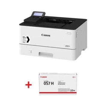 Лазерен принтер Canon i-SENSYS LBP226dw в комплект с тонер касета Canon CRG-057H, монохромен, 600 x 600 dpi, 38 стр/мин, LAN, Wi-Fi, А4 image