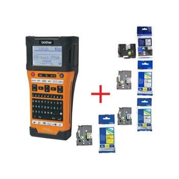 Ръчен индустриален етикетен принтер Brother PT-E550WVP в комплект с ленти TZEFX231, TZE241, TZE251, TZE651 image