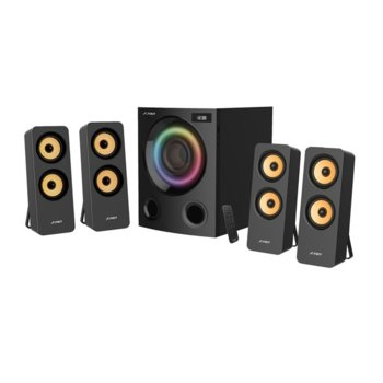 Тонколони Fenda F7700X, 4.1, 80W, Bluetooth 5.0, FM, USB, 3.5mm jack, черни, RGB LED подсветка image