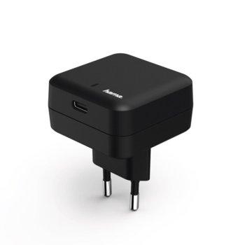 Зарядно устройствo HAMA 178312, от контакт към USB C (ж), 27W/3A, черно image