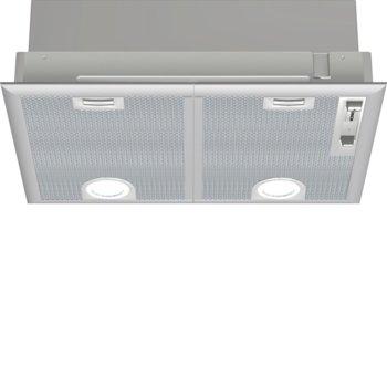 Абсорбатор BOSCH DHL555B, за вграждане, стандартен, енергиен клас D, въздухопоток 860 m³/h, 2 мотор, 3 степени на мощност + интензивна, сив image