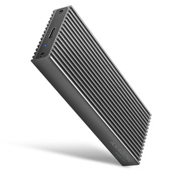 "Кутия 2.5"" (6.35 cm) Axagon EEM2-XR, за M.2 NVMe (2230/2242/2260/2280) SSD, USB Type-C 3.2 Gen 2, черна image"
