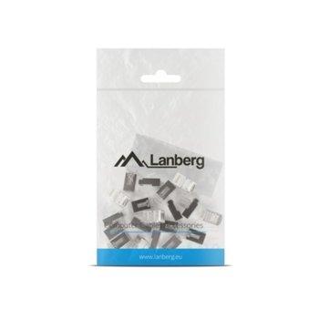 Конектори Lanberg PLS-6020, RJ-45, FTP, Cat 6, екранирани, 20бр. image