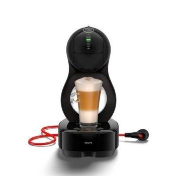 Автоматична еспресо кафемашина Krups Lumio KP130831, 1600W, 15 bar, 1 л. резервоар, черна image