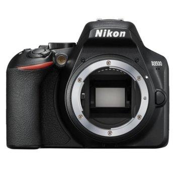 "Фотоапарат Nikon D3500 в комплект с обективи Nikon 18-140mm VR и Nikon DX Upgrade Kit, 24.2 Mpix, 3.0"" (7.62 cm) TFT дисплей, SDXC/HC, HDMI, USB, Bluetooth image"