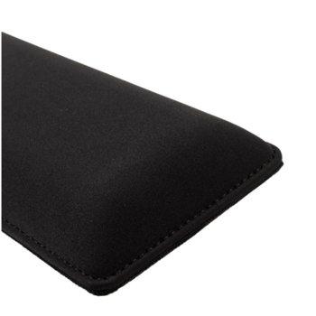 Подложка за китки Glorious Wrist Rest Stealth (GWR-75-STEALTH), regular, compact, за механични клавиатури, черна, 360 x 100 x 25 mm image