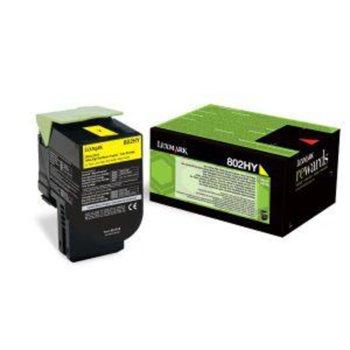 КАСЕТА ЗА LEXMARK CX410de / CX410dte / CX410e / CX510de / CX510dhe / CX510dthe - Yellow - P№ 80C2HY0 - Заб.: 3000k брой копия image