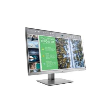 """Монитор HP EliteDisplay E243 (1FH47AA), 23.8"""" (60.45 cm) IPS панел, Full HD, 5ms, 10000000:1, 250 cd/m2, Display Port, HDMI, VGA, USB image"""