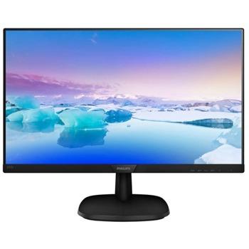 """Монитор Philips 243V7QJABF/00, 24"""" (61.96) IPS панел, Full HD, 5 ms, 200 000 000:1, 250cd/m2, 1x Display Port, 1x HDMI, 1x D-Sub image"""