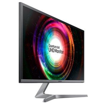 """Монитор Samsung U28H750U (LU28H750UQUXEN), 27.9"""" (70.88 cm) QLED TN панел, 4K Ultra HD, 1ms, Mega Infinity DCR, 300 cd/m2, 1x DisplayPort, 1x HDMI image"""