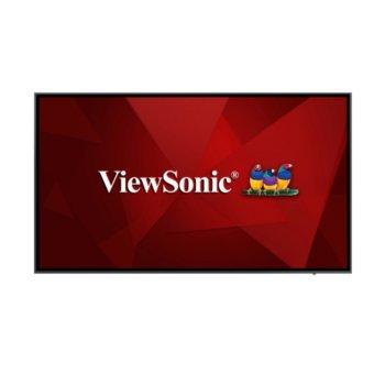 "Публичен дисплей Viewsonic CDE7520, 75"" (190.5 cm) 4K Ultra HD, 2x HDMI, DP, VGA, USB image"