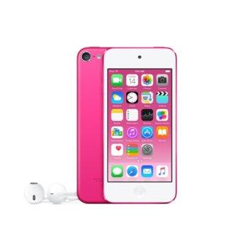 "Apple iPod Touch 6th Gen(розов), 4.0""(10.16 cm) сензорен IPS Retina дисплей, двуядрен A8 64bit 1.1GHz, 1GB RAM, 32GB Flash памет, iSight 8Mpix & Facetime HD 1.2Mpix camera, Wi-Fi, Bluetooth 4.1, iOS 10 image"