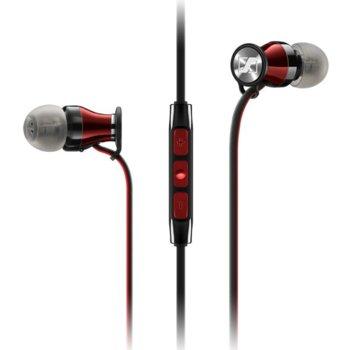 Слушалки Sennheiser Momentum In-Ear i (M2 IEi), микрофон, 16Hz-22kНz честотен диапазон, 1.3 м кабел, червени image