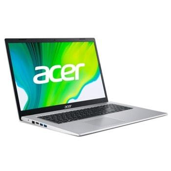 "Лаптоп Acer Aspire 3 A317-33 (NX.A6TEX.004), четириядрeн Jasper Lake Intel Pentium N6000 1.1/3.3 GHz, 17.3"" (43.94 cm) Full HD IPS Anti-Glare Display, (HDMI), 8GB DDR4, 256GB SSD, 2x USB 3.0, No OS  image"