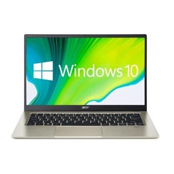 "Лаптоп Acer Swift 1 SF114-34 (NX.A7BEX.007)(златист), четириядрен Jasper Lake Intel Celeron N5100 1.1/2.8 GHz, 14.0"" (35.56 cm) Full HD IPS Anti-Glare Display, (HDMI), 8GB DDR4, 256GB SSD, 1x USB Type-C, Windows 10 Home image"