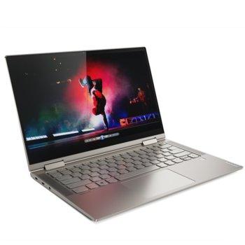 "Лаптоп Lenovo Yoga C740-14IML (81TC002MBM)(златист), четириядрен Comet Lake Intel Core i5-10210U 1.6/4.2 GHz, 14.0"" (35.56 cm) Full HD IPS Touchscreen Anti-Glare Display, (USB 3.1 Type-C), 8GB DDR4, 1TB SSD, 2x USB 3.1 Type-C, Windows 10 Home image"