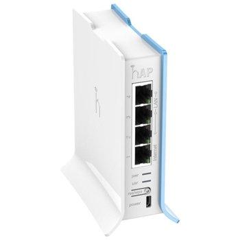 Точка за достъп Mikrotik RB941-2nD-TC HAP Lite, 2.4GHz, 300Mbps, 1x Ethernet LAN (RJ-45), USB, Micro-USB, 2 вътрешни антени image