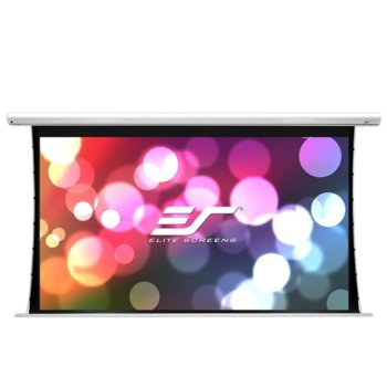 "Екран Elite Screens Saker Tension SKT100XHW-E12, за стена, White, 2215 x 1245 мм, 100"" (254 cm), 16:9 image"