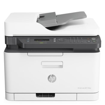 Мултифункционално лазерно устройство HP Color Laser MFP 179fnw, цветен принтер/копир/скенер/факс, 600 x 600 dpi, 19 стр./мин, LAN, Wi-Fi, USB, A4 image