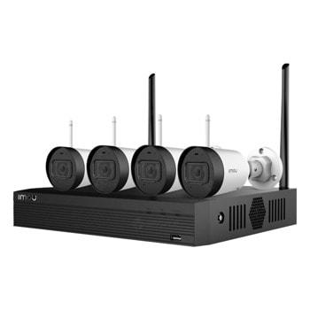 Комплект за видеонаблюдение Dahua NVR1104HS, 4x IP Camera IPC-G22 Imou - Bullet (2MP, 2.8mm, IR до 30m, 1080p/30fps, IP67) + IP видеорекордер NVR1104HS (4 канала, 1x SATA, 1x HDMI, 1x VGA, USB image